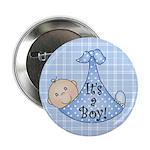 It's a Boy (White) Button