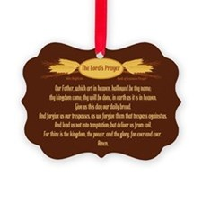 The Lords Prayer Wheat Picture Ornament