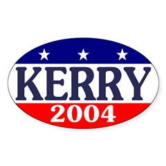 Kerry 2004 Oval Decal