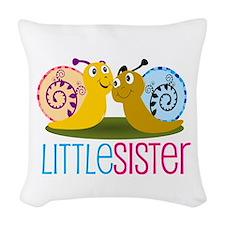 Little Sister Snail Woven Throw Pillow