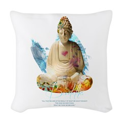 Buddha Woven Throw Pillow