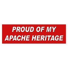 Apache Heritage Pride Bumper Bumper Sticker