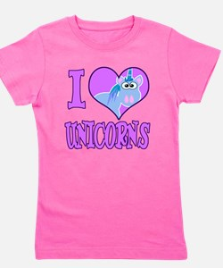love unicorns.png Girl's Tee