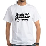 Made in 1975 Mens White T-shirts