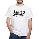 1975 Mens White T-shirts