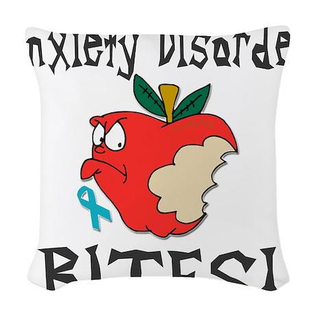 Anxiety Disorder Bites Woven Throw Pillow