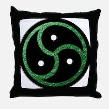 GREEN - BDSM Emblem - Symbol Throw Pillow