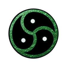 "GREEN - BDSM Emblem - Symbol 3.5"" Button"