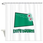 Lets Bounce Dice.png Shower Curtain