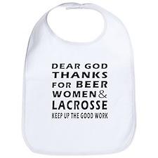 Beer Women And Lacrosse Bib