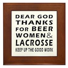 Beer Women And Lacrosse Framed Tile