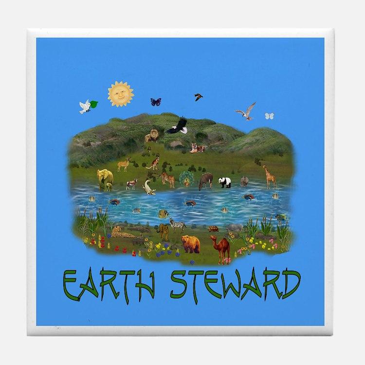 Earth Steward Tile Coaster