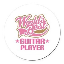 Worlds Best Guitar Player Round Car Magnet