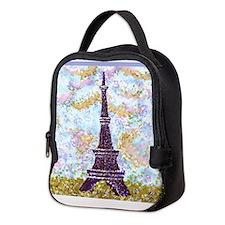 Eiffel Tower Pointillism by Kristie Neoprene Lunch