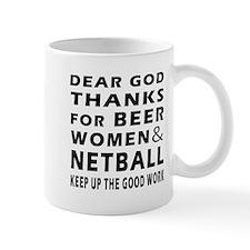 Beer Women And Netball Small Mugs
