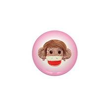 Sock Monkey Trio Mini Button (100 pack)