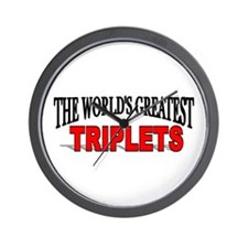"""The World's Greatest Triplets"" Wall Clock"