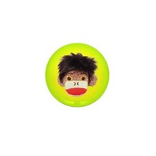 Sock Monkey Trio Mini Button (10 pack)