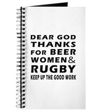 Beer Women And Rugby Journal