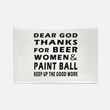 Beer Women And Paint Ball Rectangle Magnet
