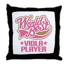 Worlds Best Viola Player Throw Pillow