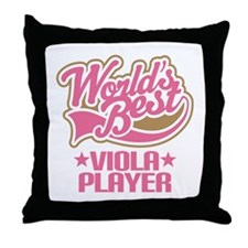 Worlds Best Viola Player Throw Pillow