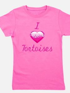 I Love/Heart Tortoises Girl's Tee