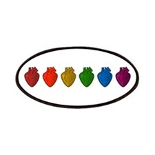 Gay Hearts Patches