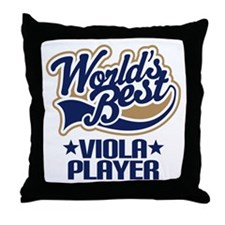 Viola Player (Worlds Best) Throw Pillow