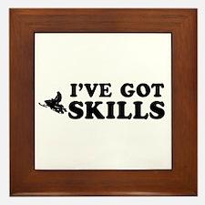 I've got Snowmobile skills Framed Tile