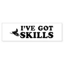 I've got Snowmobile skills Bumper Sticker