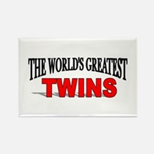 """""""The World's Greatest Twins"""" Rectangle Magnet"""