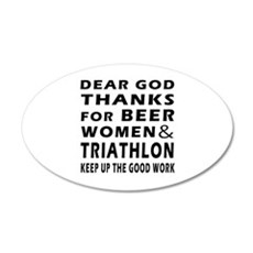 Beer Women And Triathlon Wall Decal