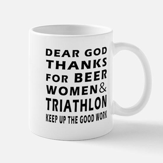 Beer Women And Triathlon Mug