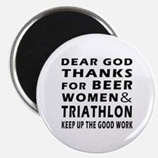 "Beer Women And Triathlon 2.25"" Magnet (10 pack)"