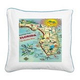 Florida Square Canvas Pillows