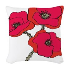 poppy.png Woven Throw Pillow