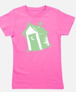 outhouse,green.png Girl's Tee