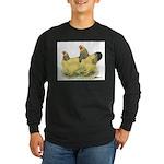 Buff Brahma Pair Long Sleeve Dark T-Shirt