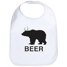 Beer. Bear with Deer Antlers Bib