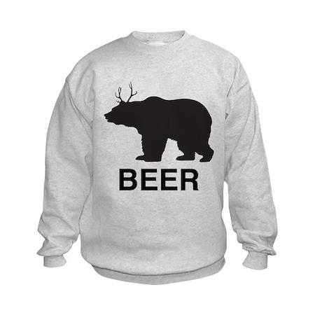 Beer. Bear with Deer Antlers Sweatshirt