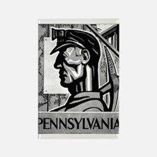 Pennsylvania Coal WPA 1938 Rectangle Magnet