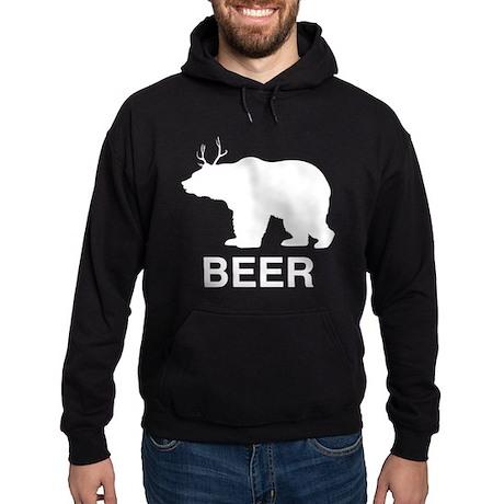 Beer. Bear with Deer Antlers Hoodie