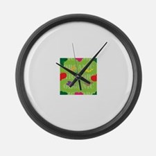 Market Seamless Large Wall Clock