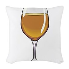 3-wine,brown.jpg Woven Throw Pillow