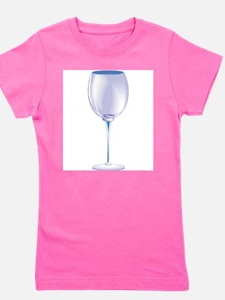 wine, empty glass.jpg Girl's Tee