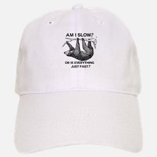 Sloth Am I Slow? Baseball Baseball Cap
