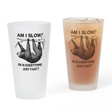 Sloth Am I Slow? Drinking Glass
