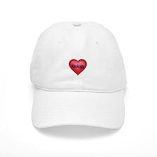 Red heart with Biology Baseball Baseball Cap