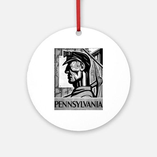 Pennsylvania Coal WPA 1938 Ornament (Round)